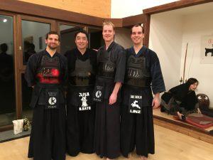 Oli, Sato, Stefan und Nico in Hamburg